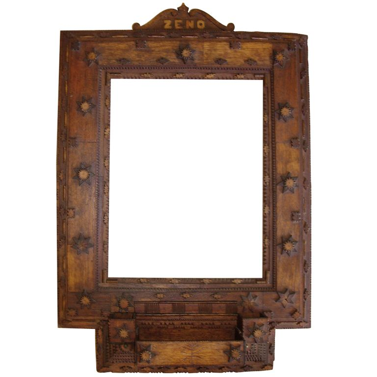 Tramp Art Frame/mirror | Antique interior, Frame mirrors and Interiors