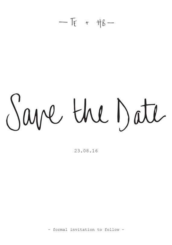 Save the Date Template u2022 Printable u2022 Blush Pink Hand Lettered Save - change order template