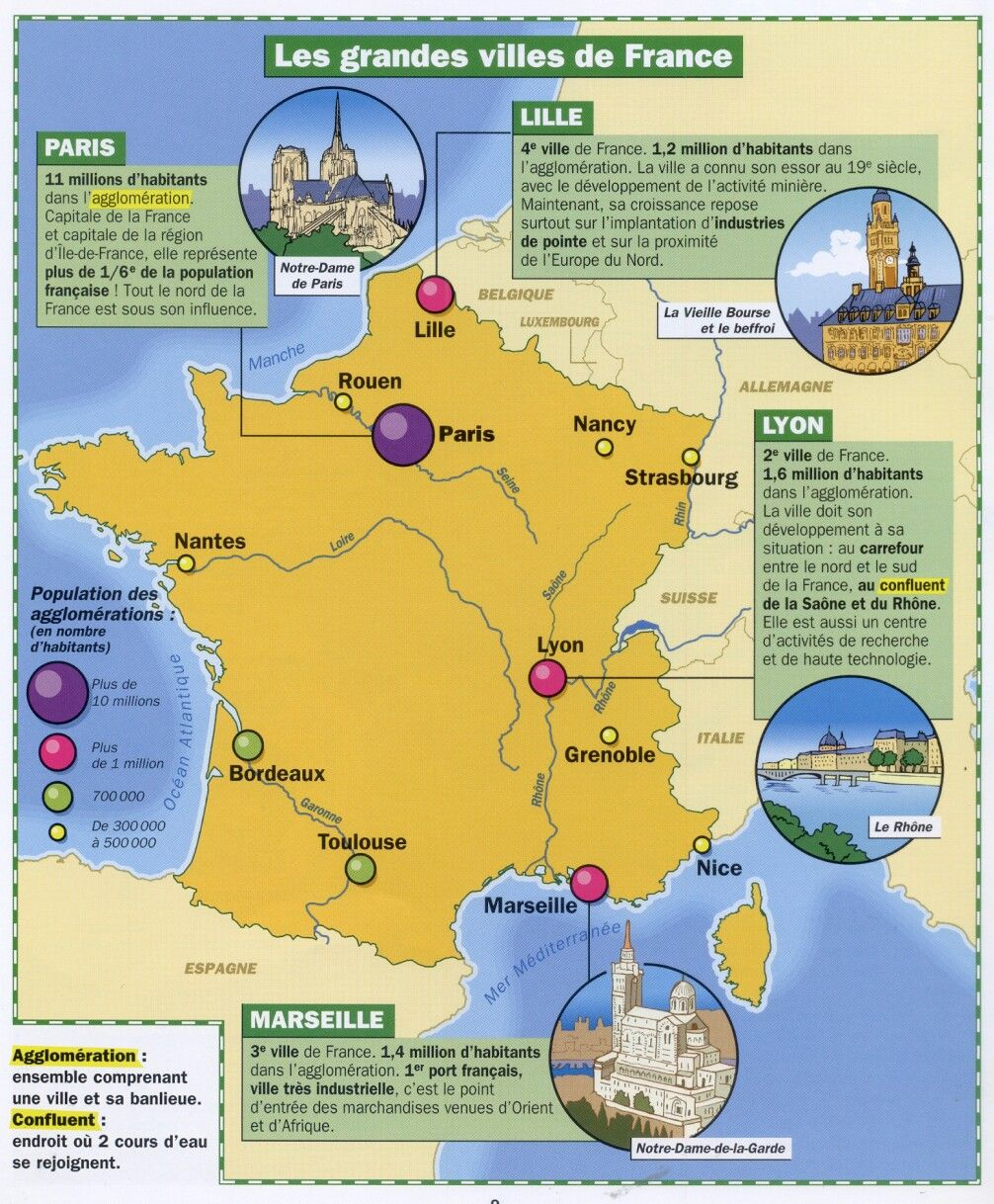 Epingle Par Florence Lyons Sur Culture Generale Ville France Geographie Geographie Cm1