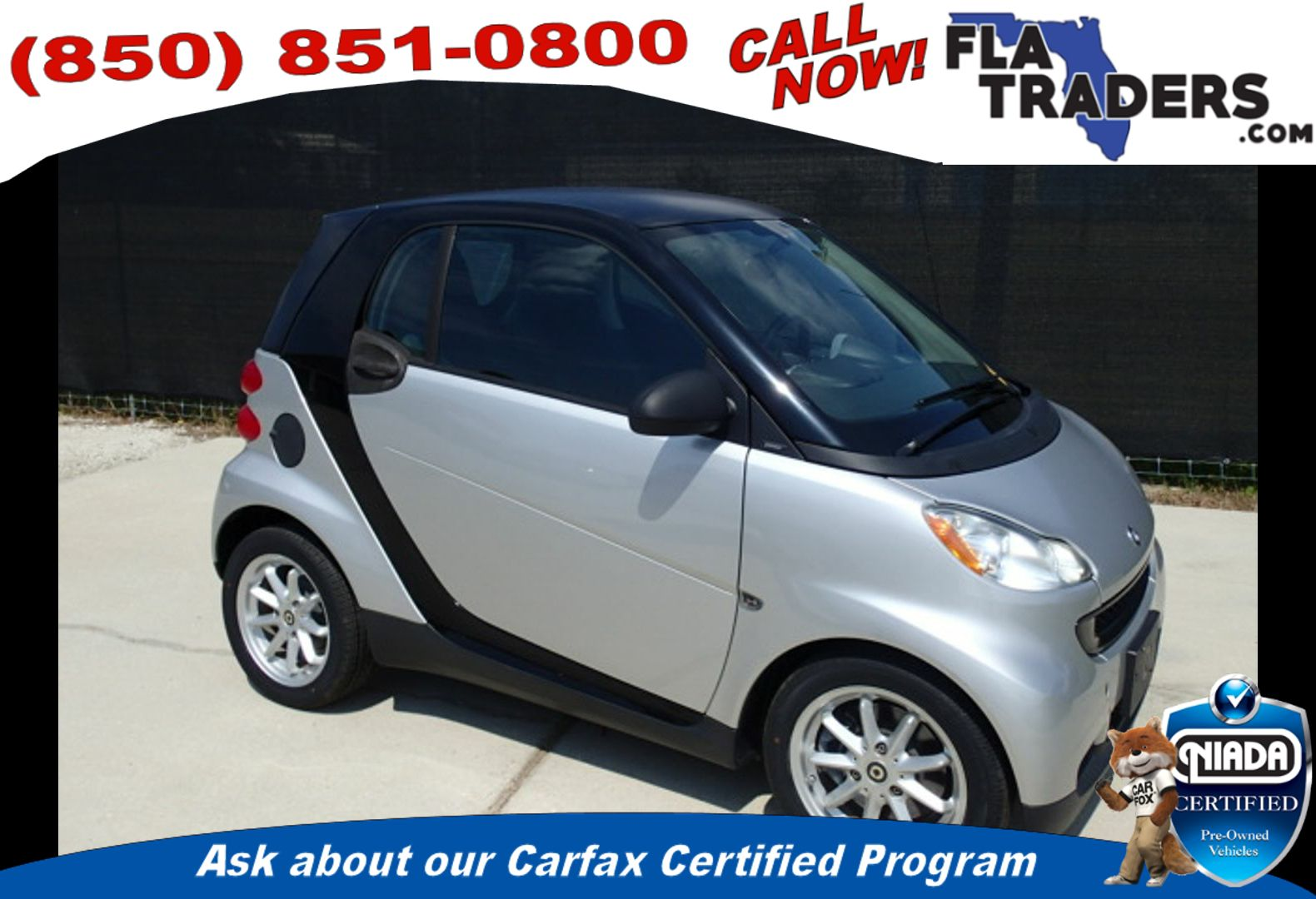 2009 SMART FORTWO - Florida Traders Used Cars in Panama City FL ...