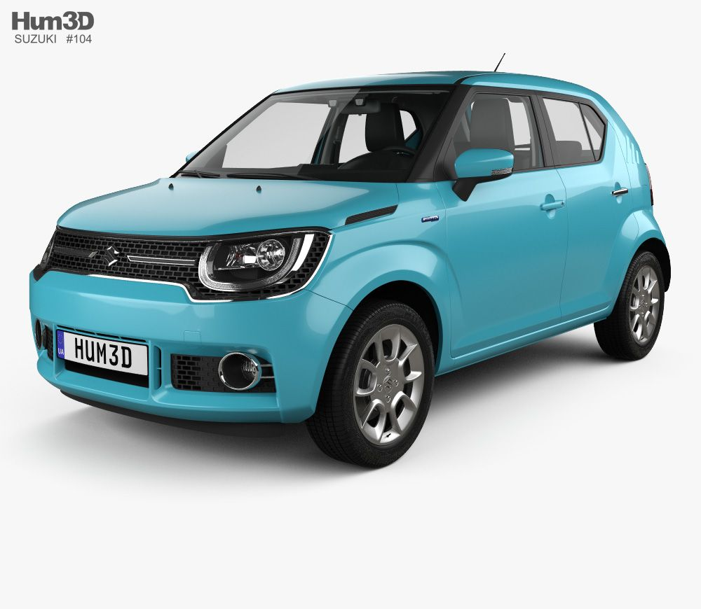 3d Model Of Suzuki Ignis With Hq Interior 2016