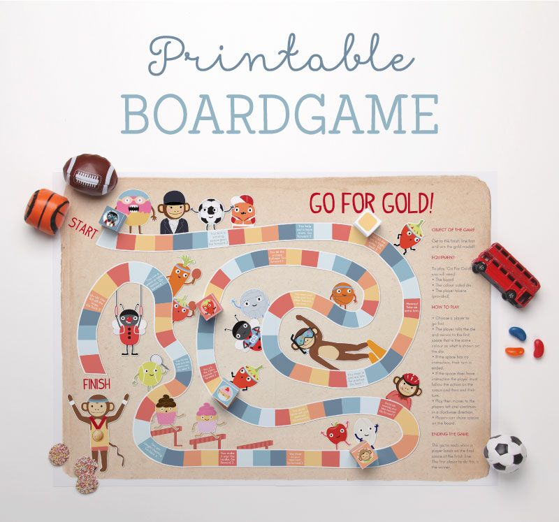 'Go for Gold' Printable Board Game Printable board games