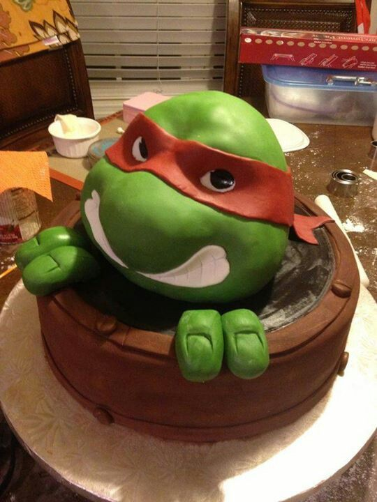 Tmnt cake 3d nom yummy 39 s pinterest g teaux 3d - Tortue ninja noms ...