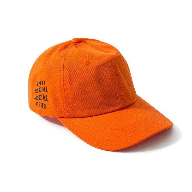 6fb470c8ff8 Black White Orange Pink Blue Red Beige Brand anti social social club  Baseball Cap Hip Hop Casquette Snapback Hat Bone Women Men