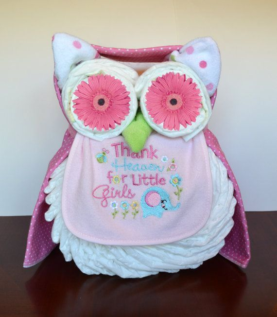 Owl Cupcakes For Baby Shower: Boy, Girl, Or Neutral Owl Diaper Cake
