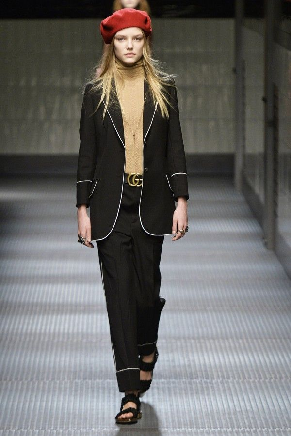 Gucci has always done androgynous suits brilliantly—this take is youthful and modern.