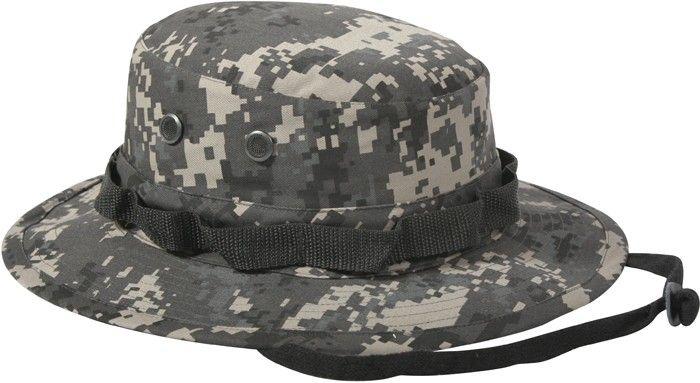 00c10f91994 Subdued Urban Digital Camouflage Military Wide Brim Boonie Hat in ...
