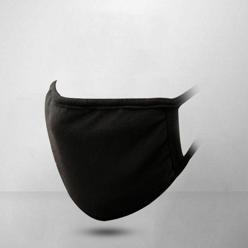 Black Cotton Face Mask Reusable Masks Anti Dusk Harmful Bacteria Fashion Clothing Shoes Accessories Mouth Mask Fashion Mouth Mask Design Korean Face Mask