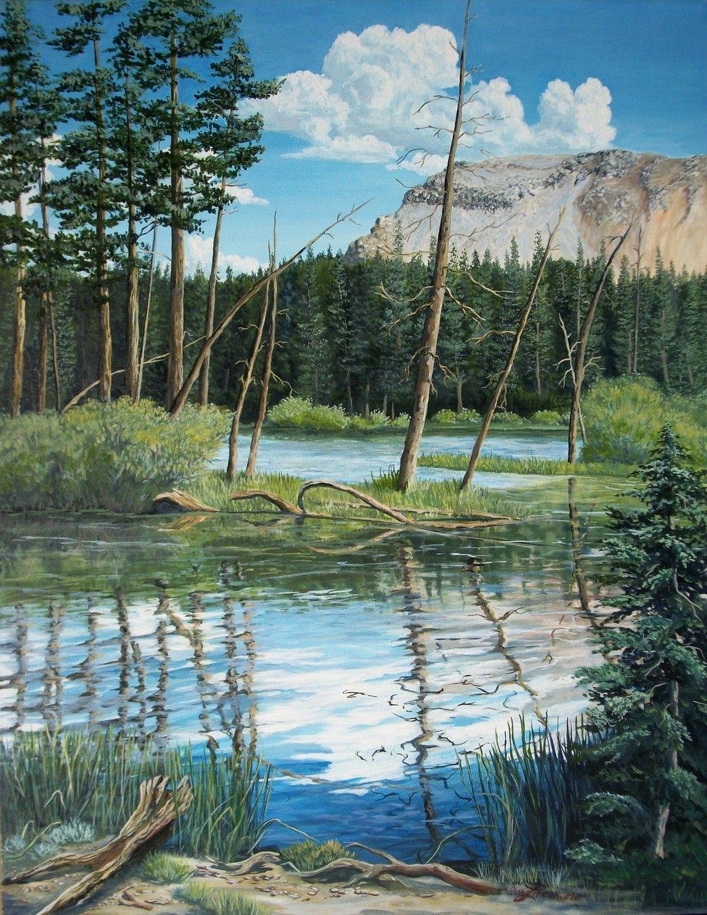 Mammoth Lakes Sierra Original Realistic Landscape Oil Painting
