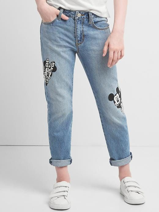 9985fb2525d32 Gap Girls Gapkids | Disney Mickey Mouse And Minnie Mouse Girlfriend Jeans  Dark Wash Size 10
