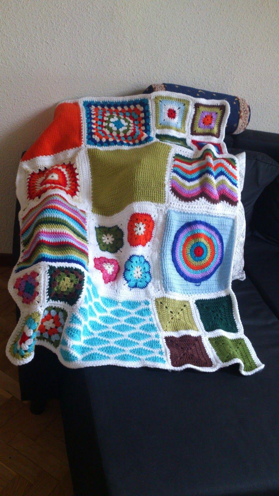 Proyectos crochet y más: Manta pachtwork-crochet fácil | cosas que ...