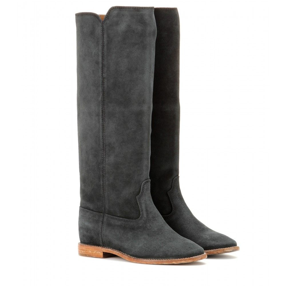 Isabel Marant - Cleave concealed wedge suede boots - mytheresa.com