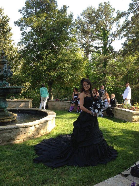 Black Wedding Dress Up : Elegant black wedding dress by weddingdressfantasy on etsy