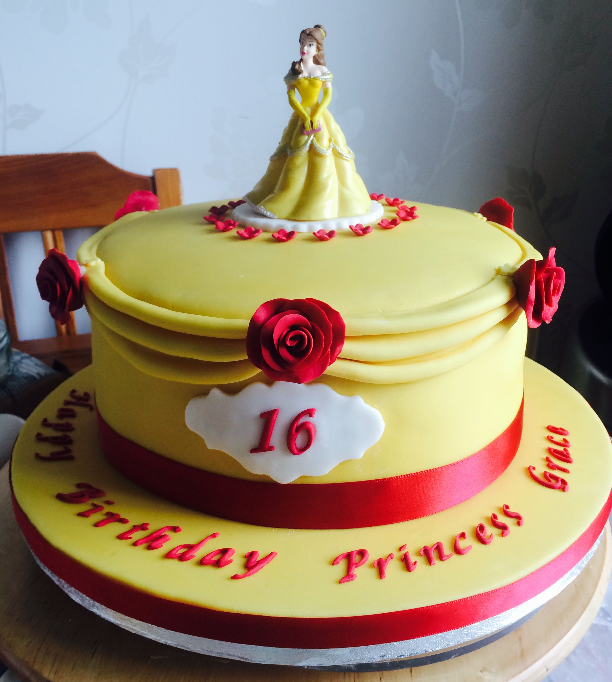 A Belle themed cake Beauty and the Beast Disney Princess
