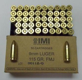 IMI9ABOX - 50rd BOX 9MM 115GR FMJ - $13.50 / 50