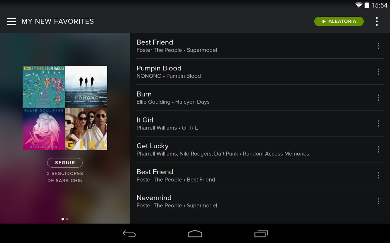 Spotify Music screenshot Mega pack y Musica