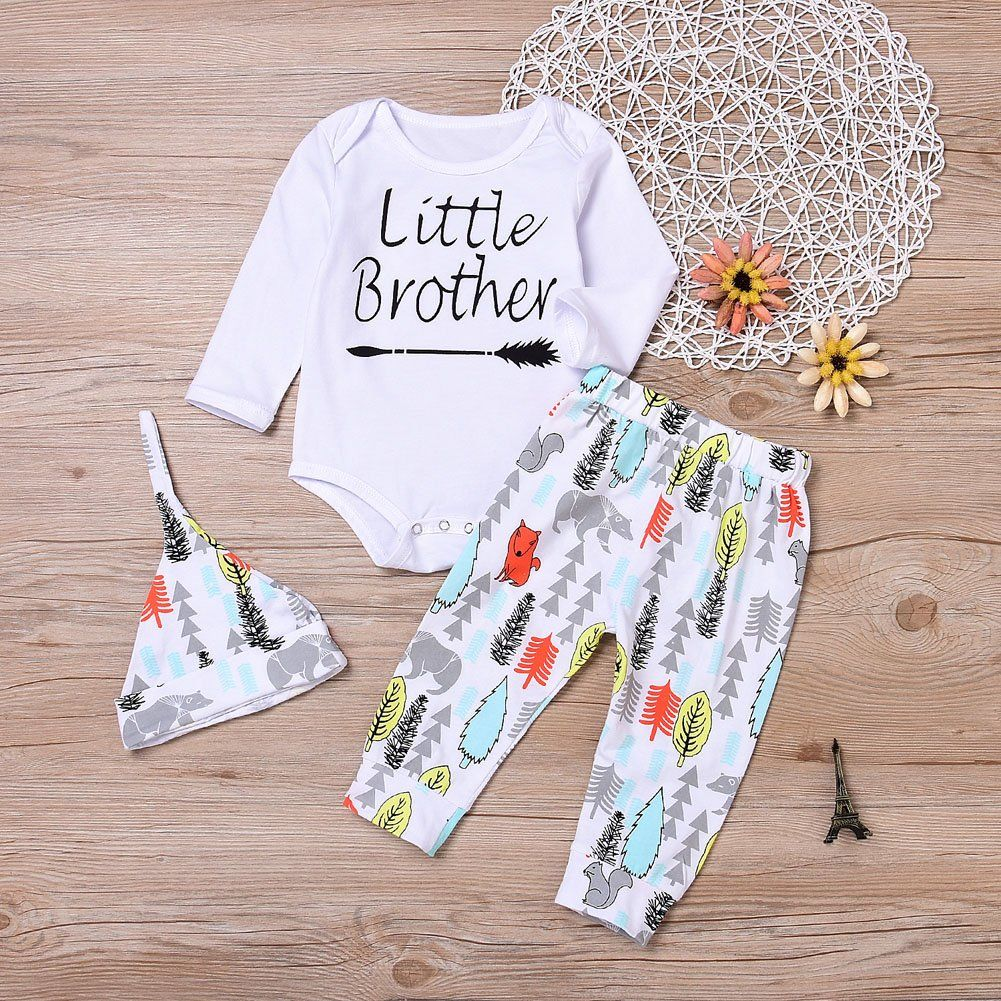 9d19089ac53 Younger Tree Newborn Baby Girls Bodysuit with Long Sleeve Long Cartoon  Animal Pant Hat Outfit Winter Clothing 3Pcs 36 Months     Make certain to  look into ...