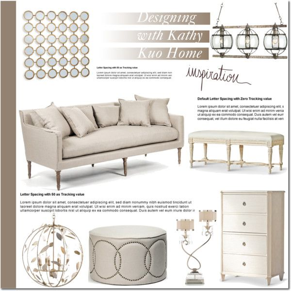 Designing with Kathy Kuo Home by mada-malureanu on Polyvore featuring interior, interiors, interior design, home, home decor, interior decorating, modern, country, kathykuohome and homeset