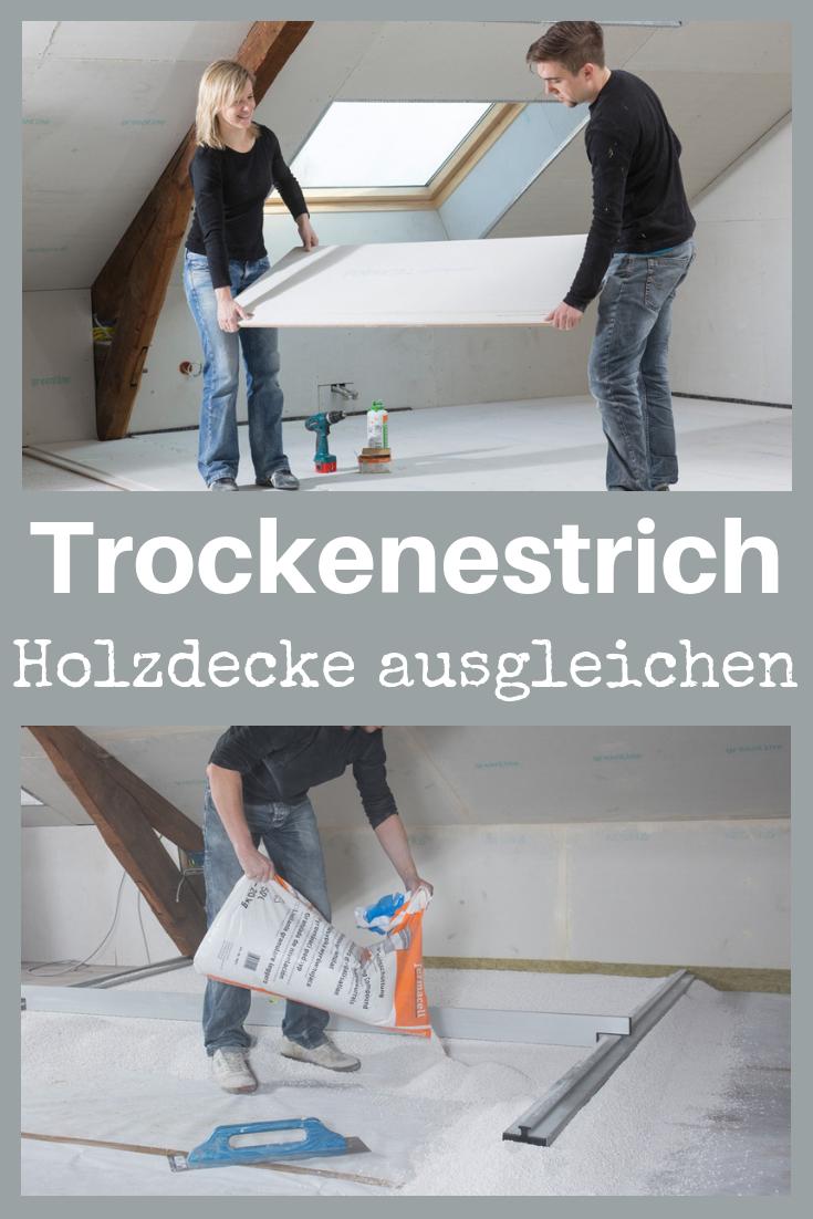 Fermacell Trockenestrich Selbst De Holzbalkendecke Estrich Dachboden Renovierung