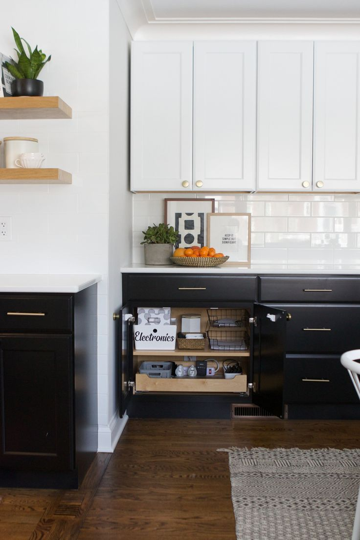 How To Clean Dark Kitchen Cabinets Black cabinets can show ...