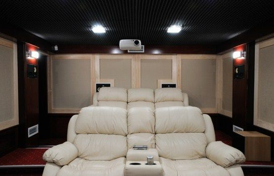 Small home theater ideas repined by http for Small room movie theater