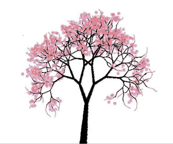 Counted Cross Stitch Pattern Pdf Cherry Blossom Tree Etsy Cross Stitch Tree Cross Stitch Cross Stitch Patterns