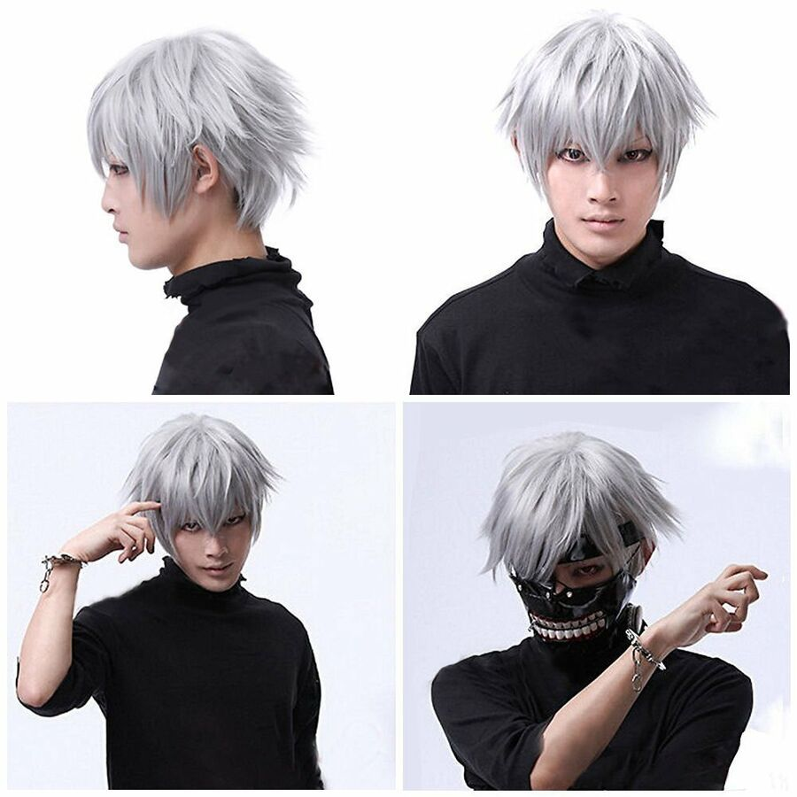 New Handsome Black Short Stright Men/'s Healthy Wig Halloween