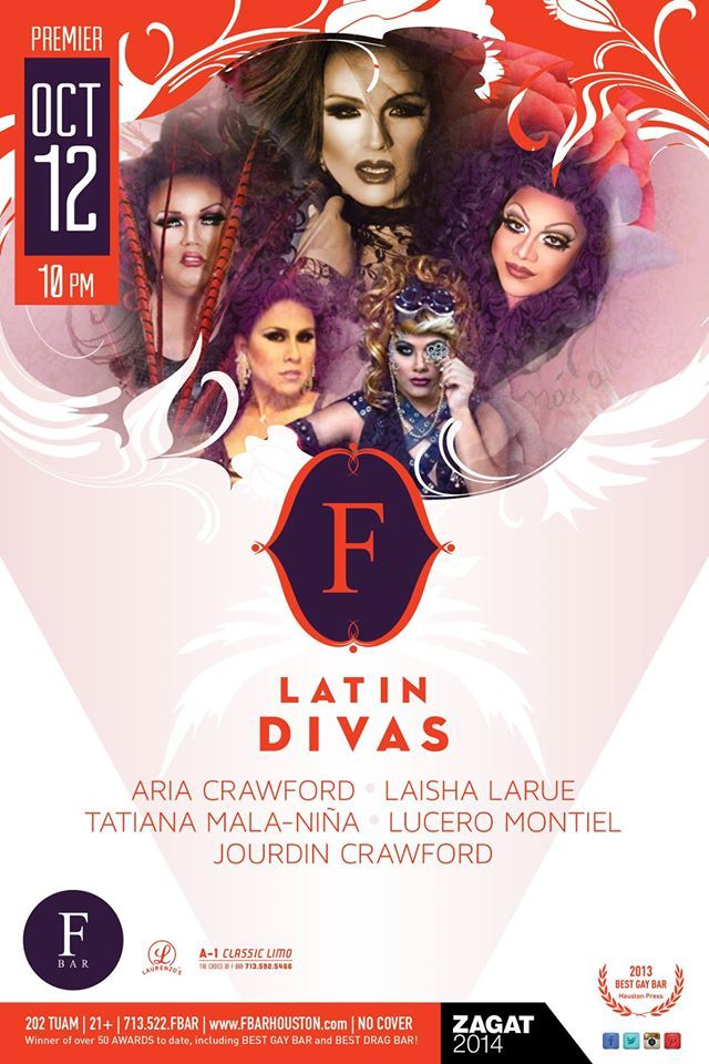 F Latin Divas, Sunday Nights @ the F! #Houston #event #gay