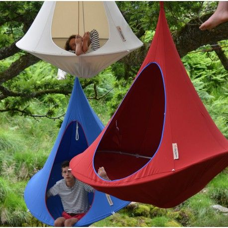 Hanging Tent   Double Hanging Chair Fuchsia By Cacoon