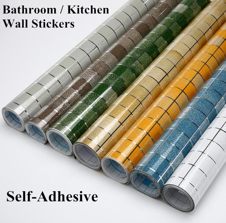 5m Bathroom Kitchen Waterproof Wall Sticker 3d Mosaic Tile Wallpaper Stickers Pvc Self Adhesive Fashion H Kitchen Wallpaper Kitchen Wall Stickers Wall Sticker