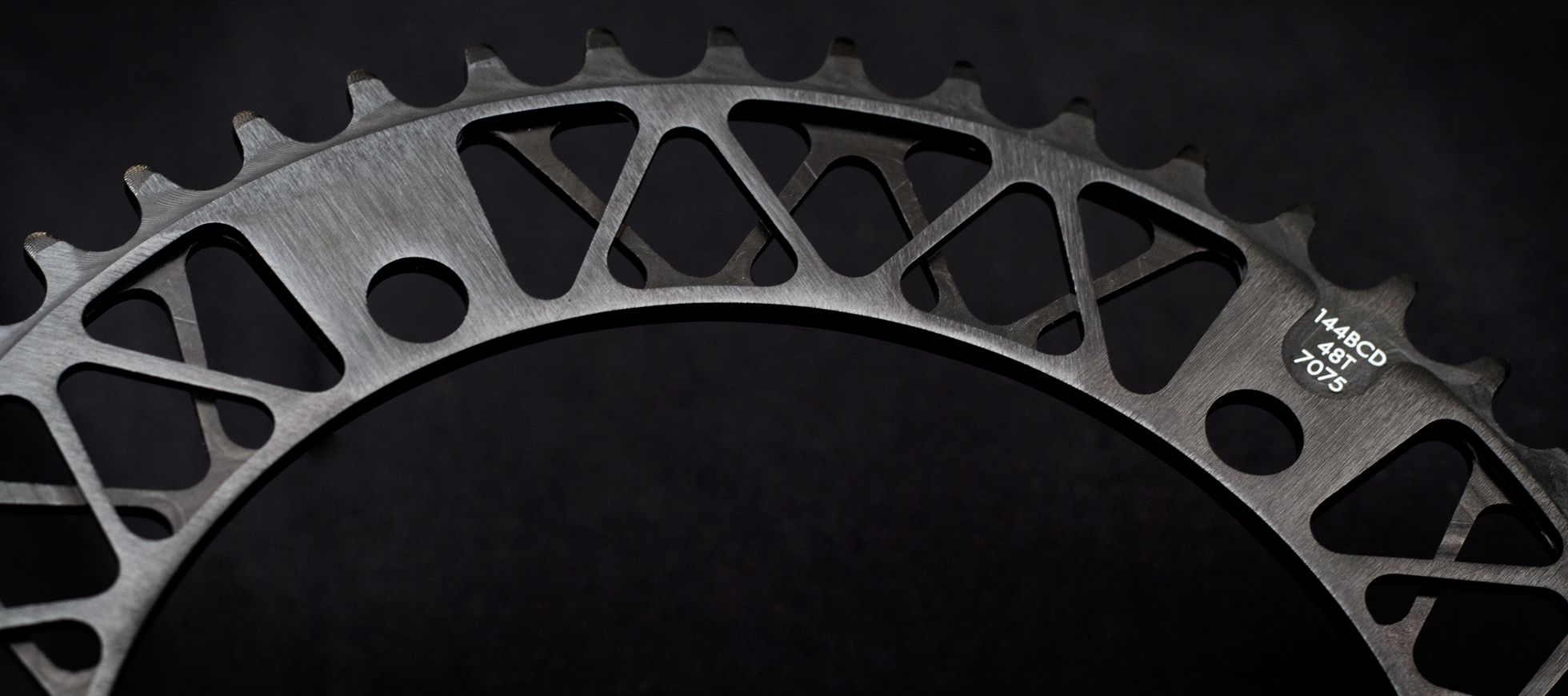 Factory Five Lattice Black Track Chainring fixed gear 144bcd