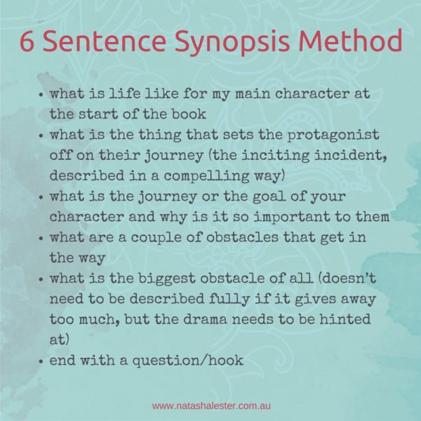 How to Write a Synopsis for a Book 6 Tips Sentences, Writers - how to write a