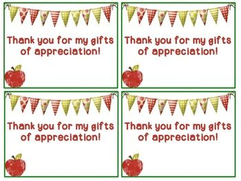 Thank You Cards for Teacher Appreciation Week (Editable ...