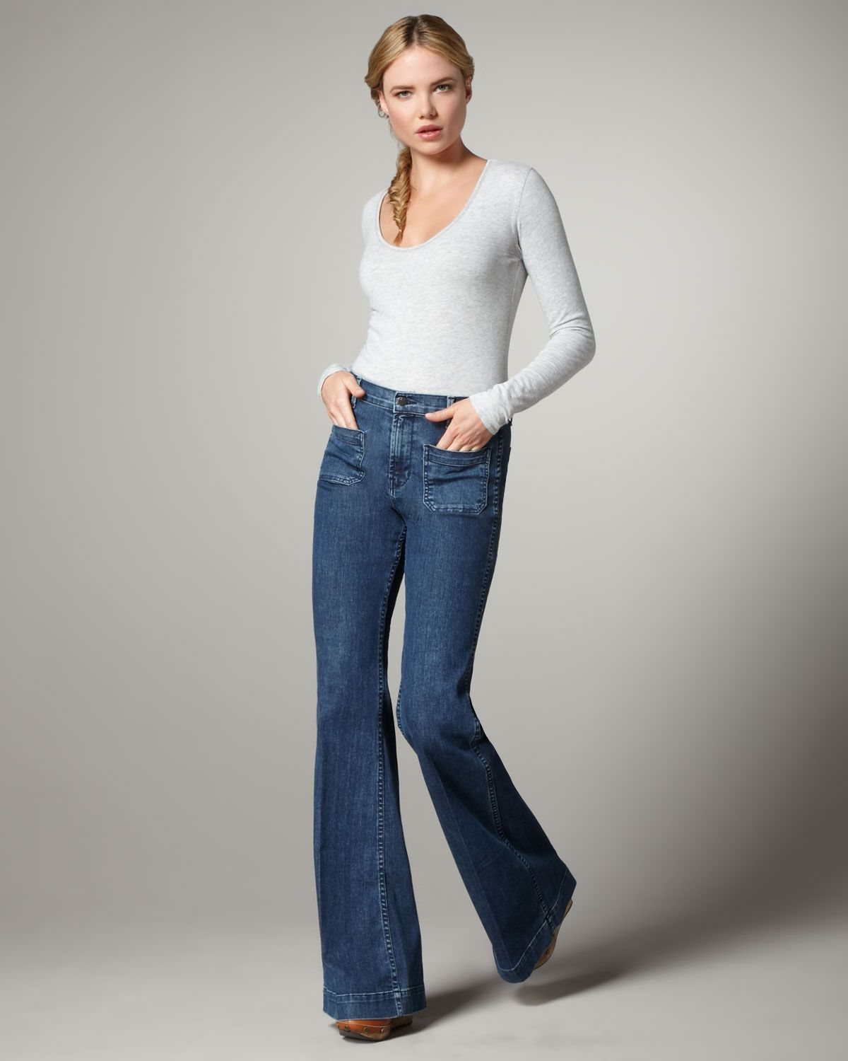 high rise flared jeans - Blue J Brand