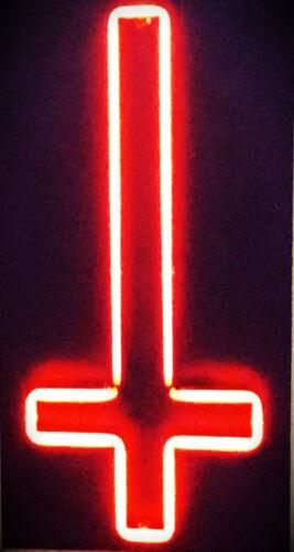 New Upside Down Cross Pub Wall Decor Acrylic Neon Light Sign 17 Ebay Neon Light Signs Upside Down Cross Cross Wallpaper