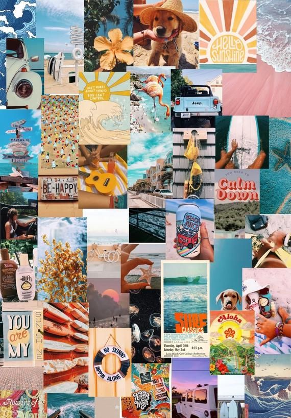 beach VSCO aesthetic photo wall collage kit