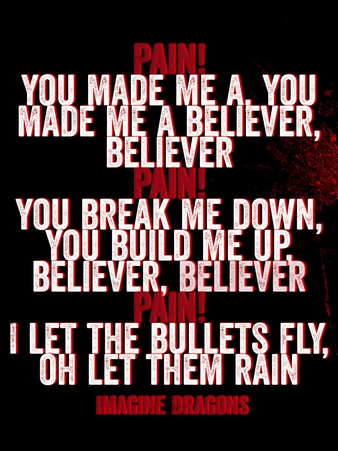 Imagine Dragons Believer Imagine Dragons Lyrics Imagine Dragons Believer Imagine Dragons