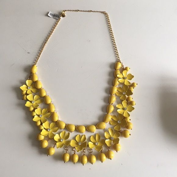 Jcrew yellow flower necklace nwt originals jewelry and jcrew jcrew yellow flower necklace jcrew yellow flower necklace wrhinestones in center of flowers mightylinksfo Choice Image