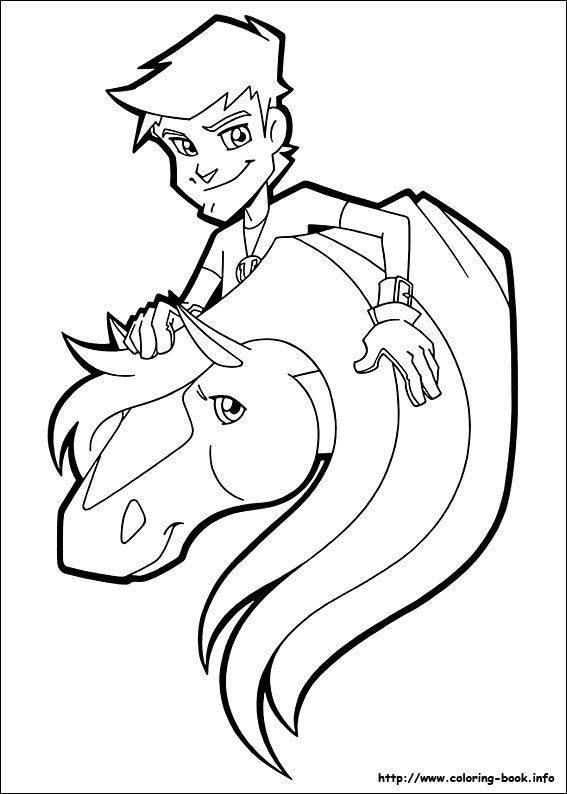 Horseland coloring picture horseland Pinterest