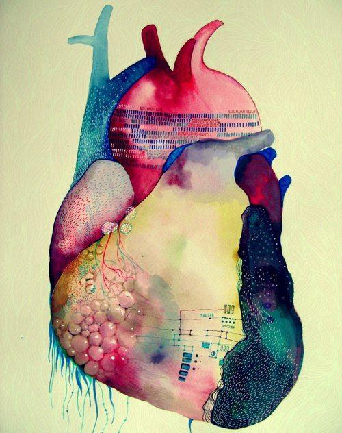 Watercolors & heart