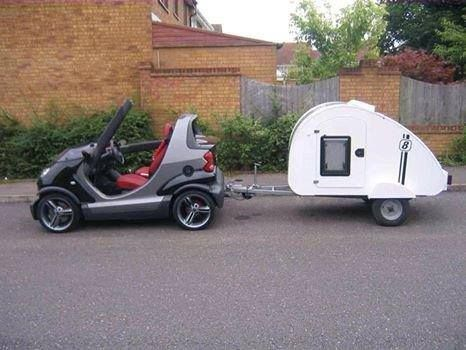 Teardrop Camper Towed By A Smart Car It Just Doesn T Get Any Cuter Than This Teardrop Trailer Camping Trailer For Sale Teardrop Trailer For Sale