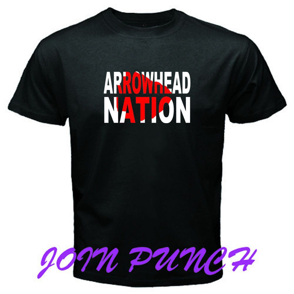 ARROWHEAD NATION KANSAS CITY CHIEFS New T-Shirt (Longslave&Hoodie Available) #Custom #BassicTee