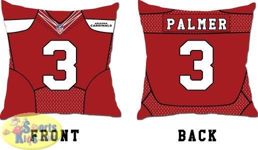287041ae5e38 Full Size Bedding. Arizona Cardinals Carson Palmer Jersey Toss Pillow  Carson Palmer