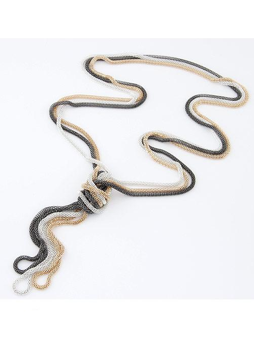 Pendant necklace Korea three layers tassels decoration chain SX-1101-005