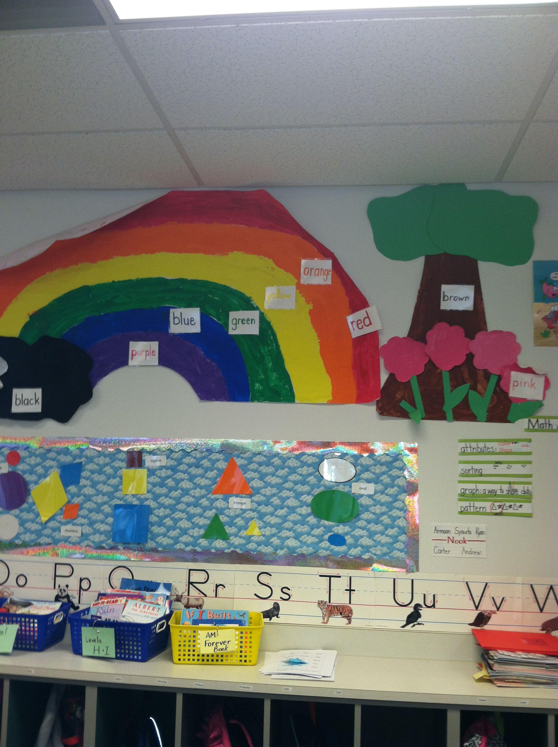 Kindergarten Colors Rainbow Labeling