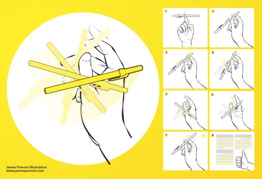 How To Spin A Pen Or Pencil Among Your Fingers Diy Tag Diytag