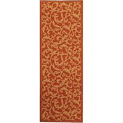 Shop for Safavieh Indoor/ Outdoor Mayaguana Terracotta/ Natural Runner (2'4 x 9'11). Free Shipping on orders over $45 at Overstock.com - Your Online Home Decor Outlet Store! Get 5% in rewards with Club O!