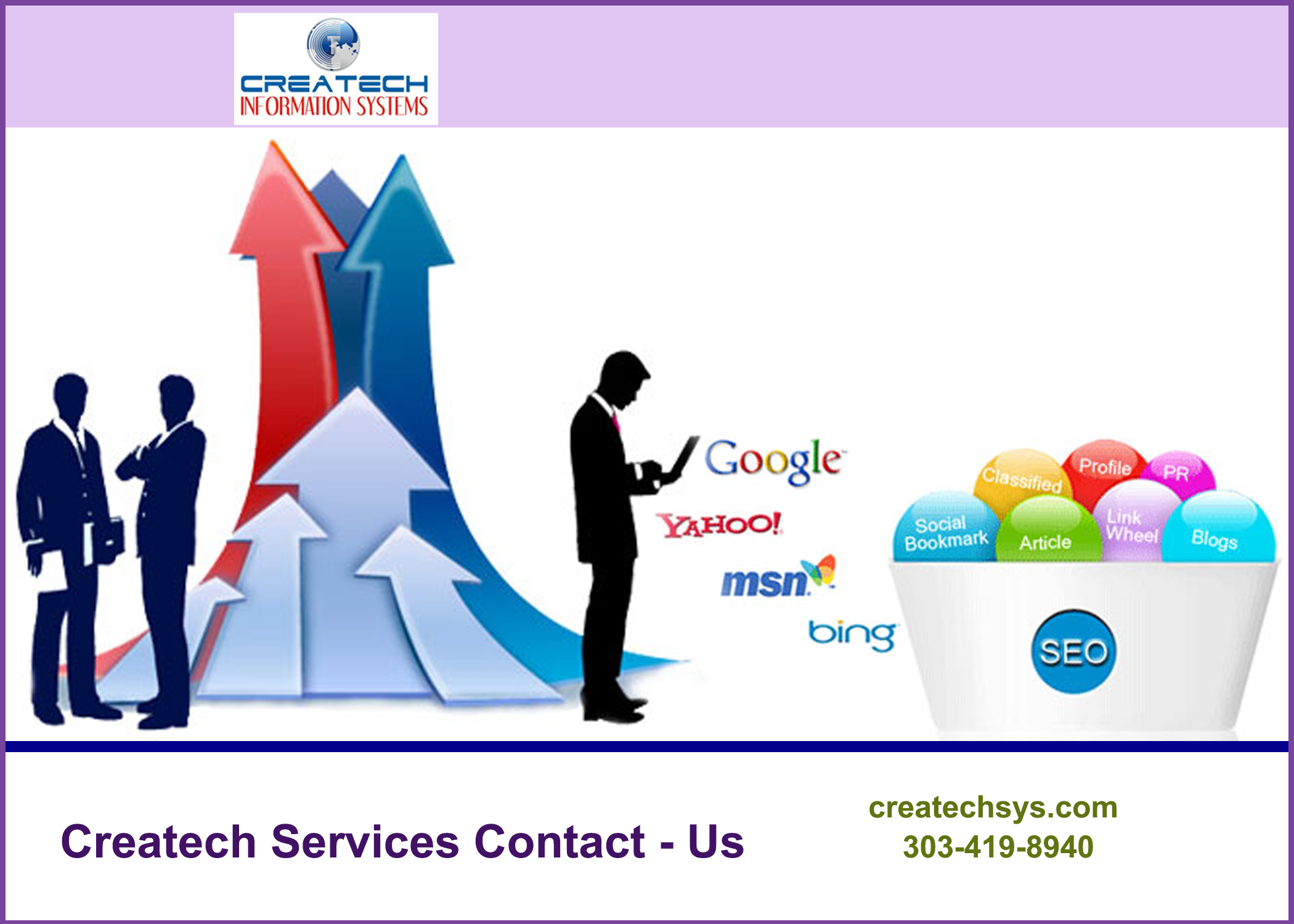 For Best Seo Web Marketing Ppc Web Development Services In Denver Contact Createch Marketing Company Search Engine Optimization Services Marketing Solution