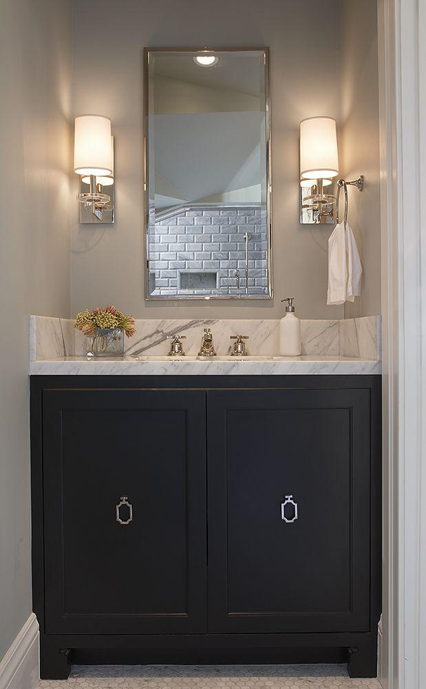 Golden Gate   ADL: Interior Designer San Francisco. Black BathroomsBlack Bathroom  VanitiesBathroom ...