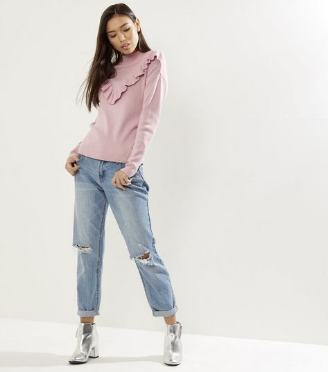 Image result for new look pink jumper frill